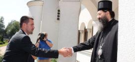 Градоначелник Краљева др Предраг Терзић у посети Епископу жичком г. Јустину