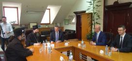 Његово Преосвештенство Епископ жички г. Јустин  у посети Граду Чачку