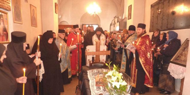 Опело упокојене монахиње Ане у Манастиру Ваведење